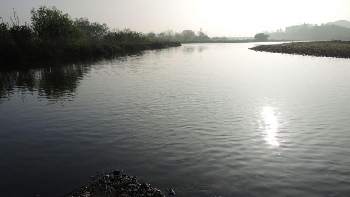 多摩川と大栗川の本当の合流地点