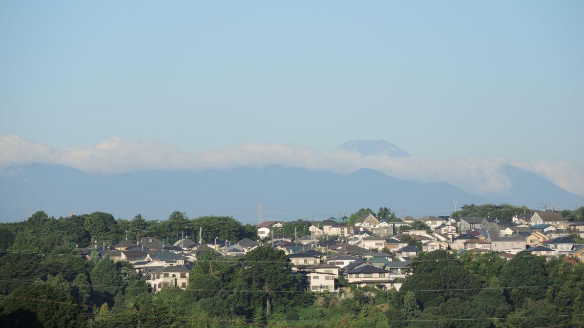 多摩から見る夏の富士山