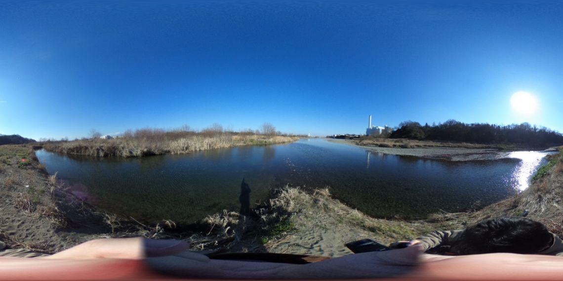 大栗川合流地点を久々に散策