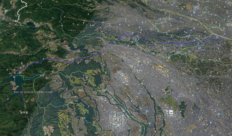 多摩市から宮ヶ瀬湖湖畔にある高畑山登山口までサイクリング