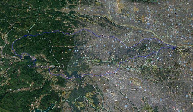 多摩市から相模湖へそして和田峠を越えて陣馬街道経由で多摩市へ(石老山登山)