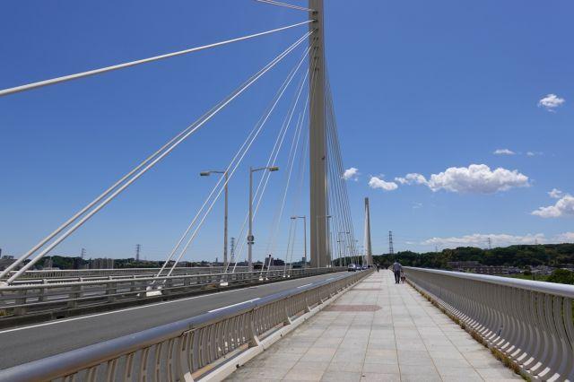 府中四谷橋を渡る