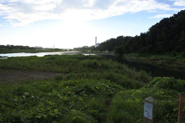 大栗川合流地点
