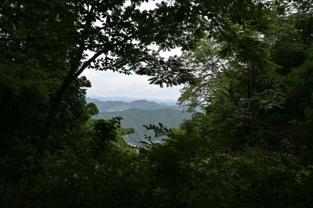 雷電山山頂からの展望