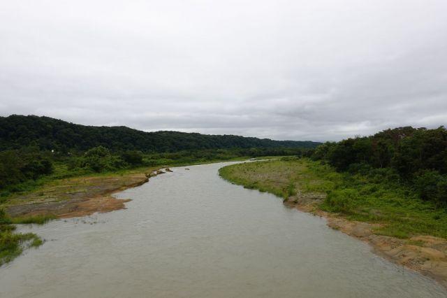 拝島橋からの多摩川