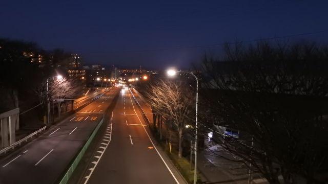 川崎街道の早朝